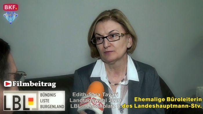 Edith Tayari, LBL – LTW 2020 – Ehemalige Büroleiterin des LH-Stv.
