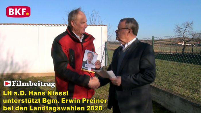 LH a.D. Hans Niessl unterstützt Bgm. Erwin Preiner – LTW 2020