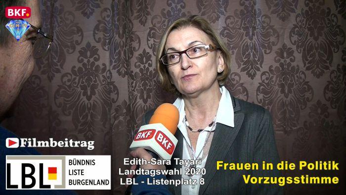 Edith Tayari, LBL – LTW 2020 – Frauen in die Politik – Vorzugsstimme